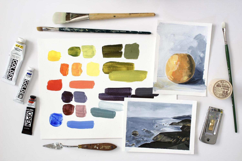 Best skillshare classes - Acrylic Painting: Learn the Basics For Beginners