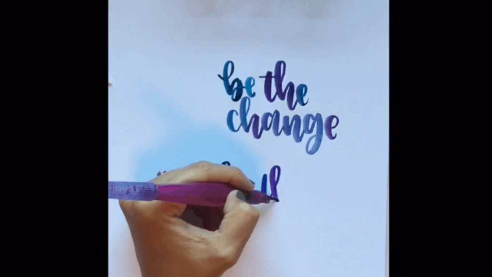 Best skillshare classes - Hand Lettering With a Water Brush