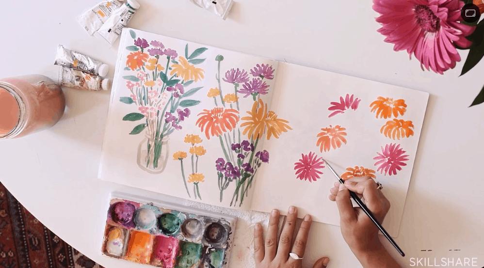 Illustration & Inspiration: Keeping a Sketchbook - Best skillshare classes