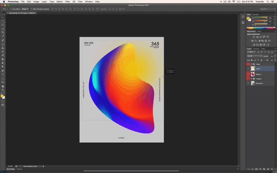 Best skillshare classes - Baugasm™ Series #1 - Create Experimental Gradients and Posters