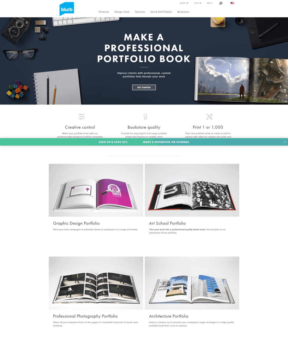 How to create a portfolio - Blurb