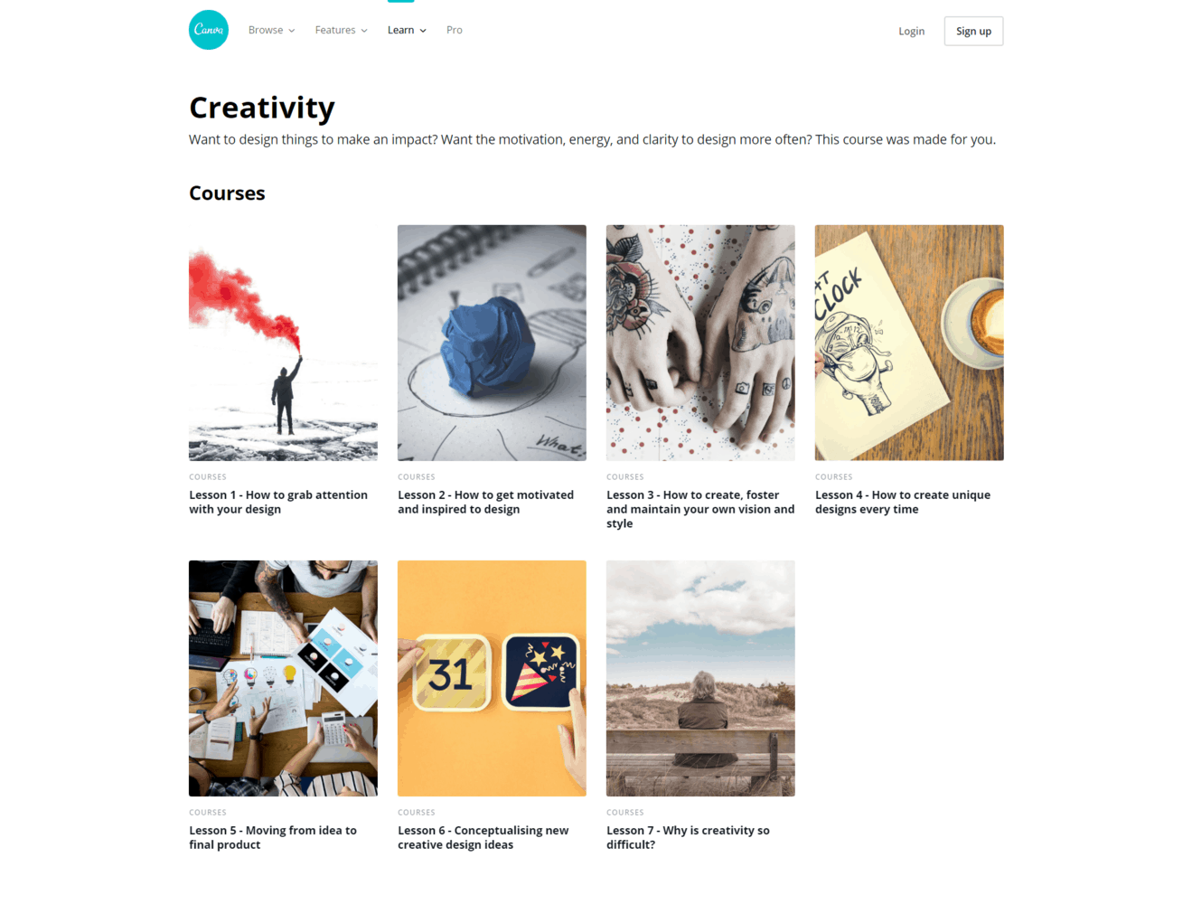 Creativité - Canva