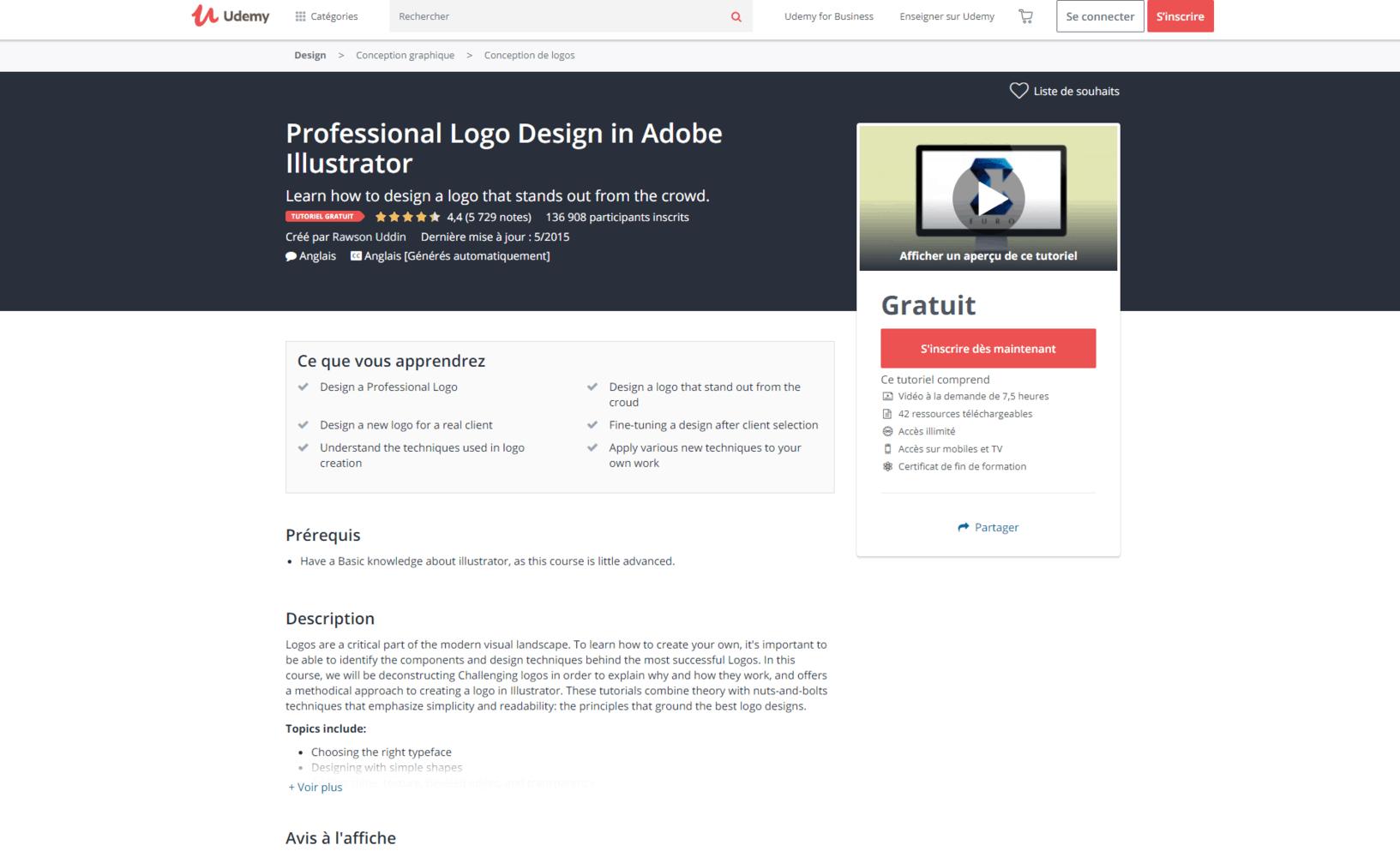 Création de logo professionnel dans Adobe Illustrator - Udemy