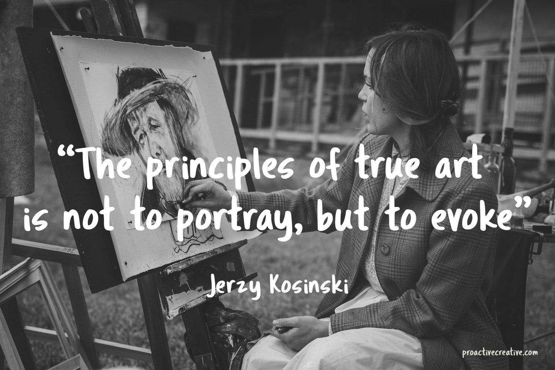 Art quotes - Jerzy Kosinski