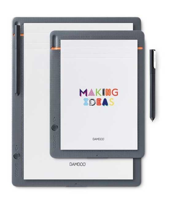 Wacom Bamboo Slate Smartpad Digital Notebook - meilleure tablette pour prendre des notes et dessiner