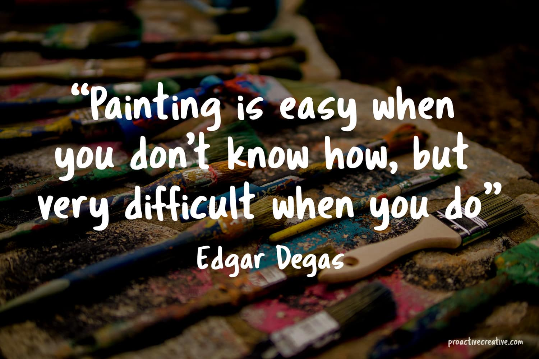 Art quotes - Edgar Degas
