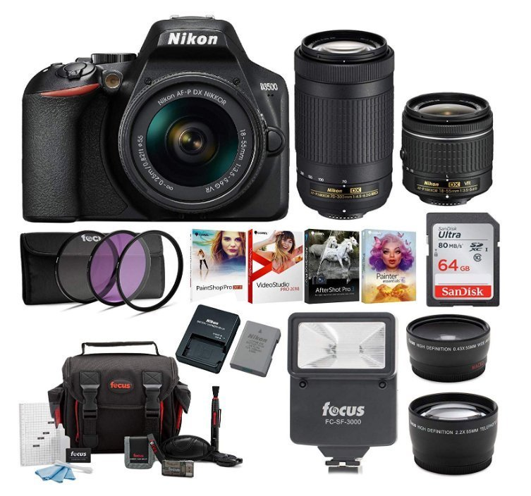 Nikon D3500 24.2MP DSLR Camera - graphic design equipment