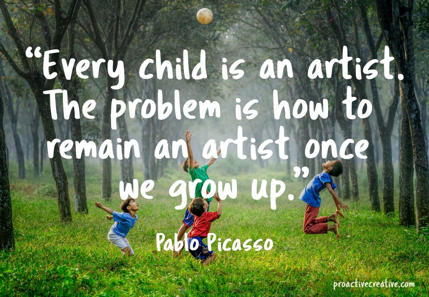 Art quotes - Pablo Picasso