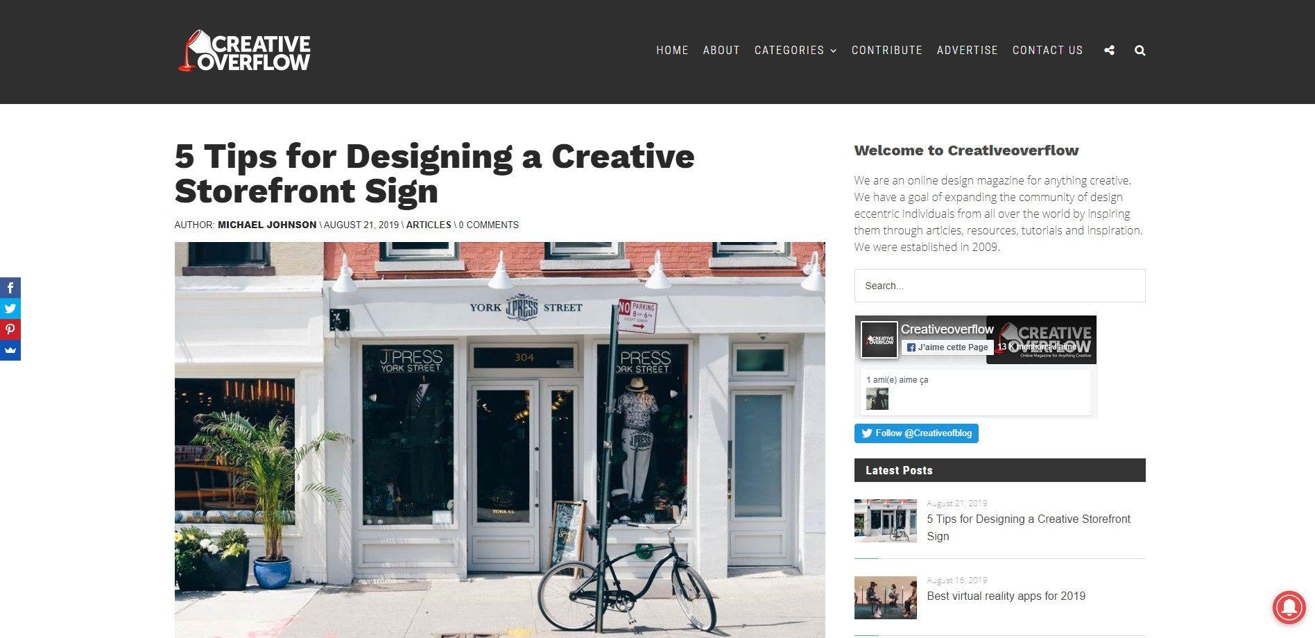 Creativeoverflow - Web design blog