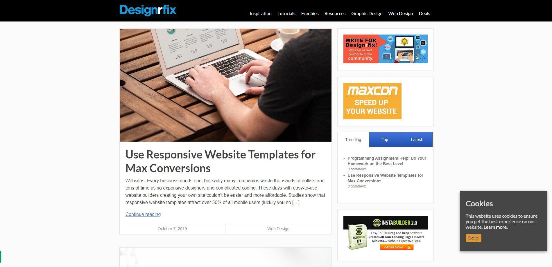 Designrfix - Web design blog