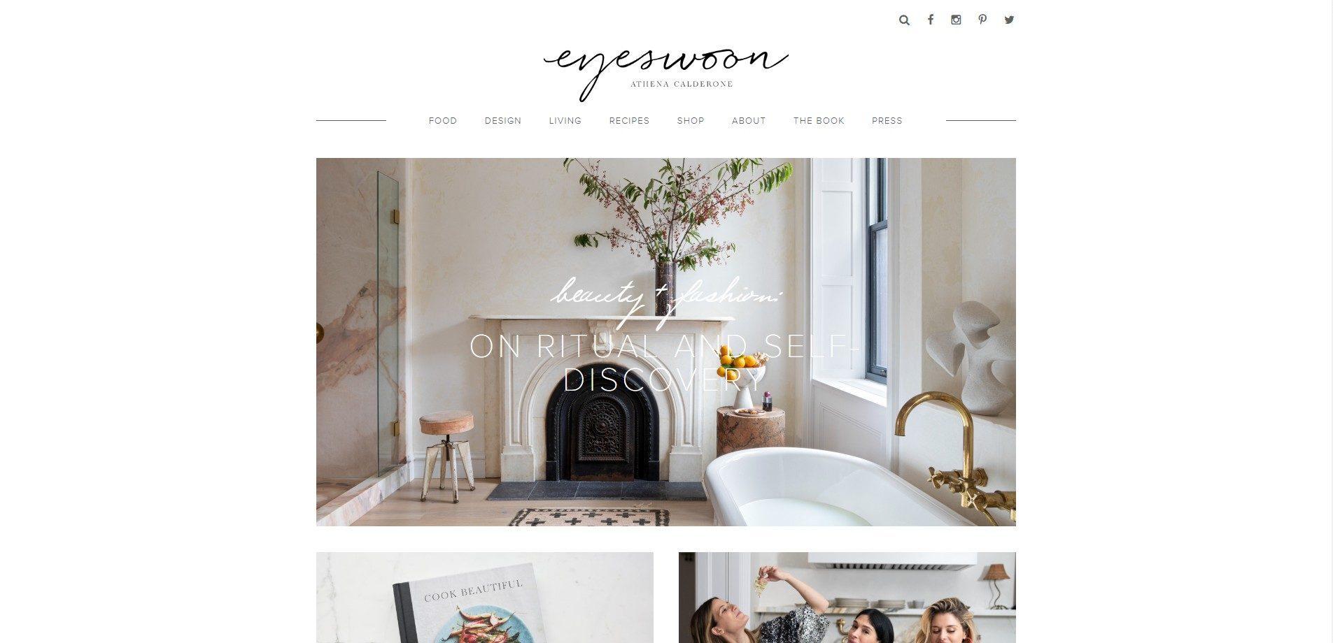 eyeswoon interior design blog