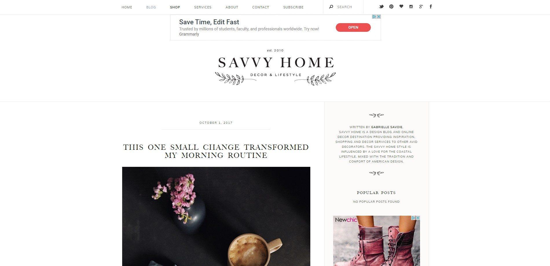 Savvy Home - Interior design blog