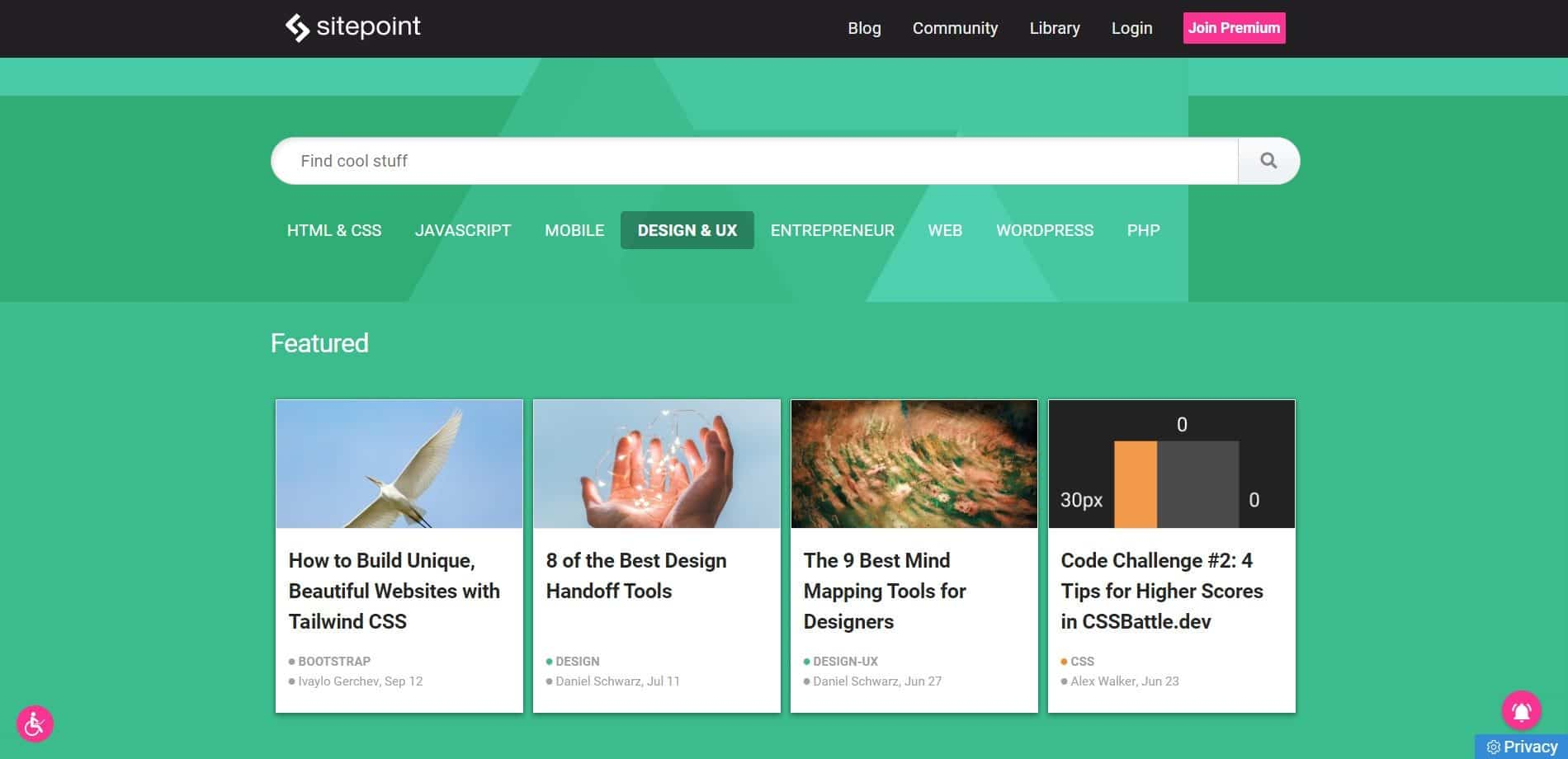 SitePoint - Web design blog