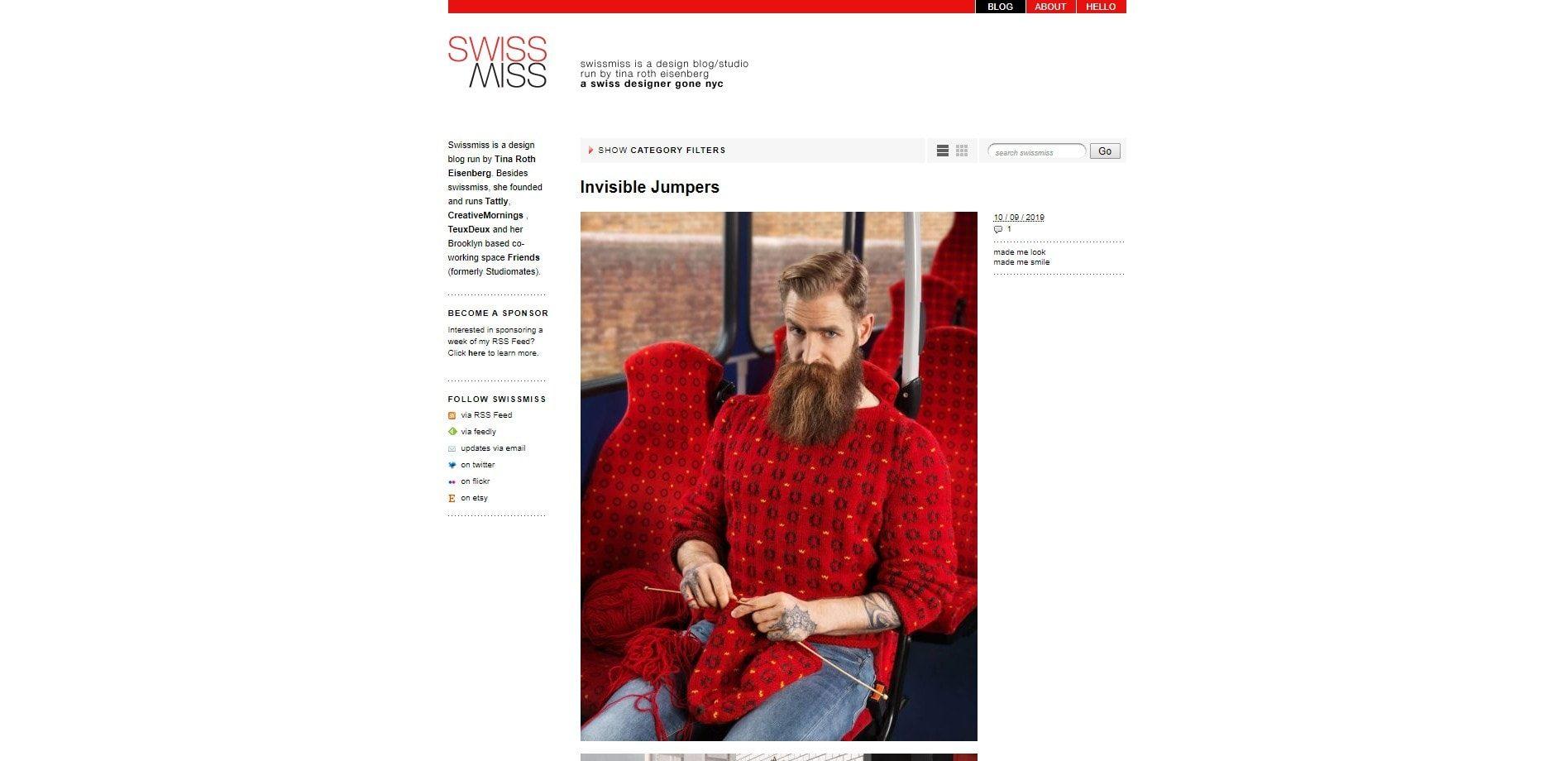 SwissMiss - Design blog