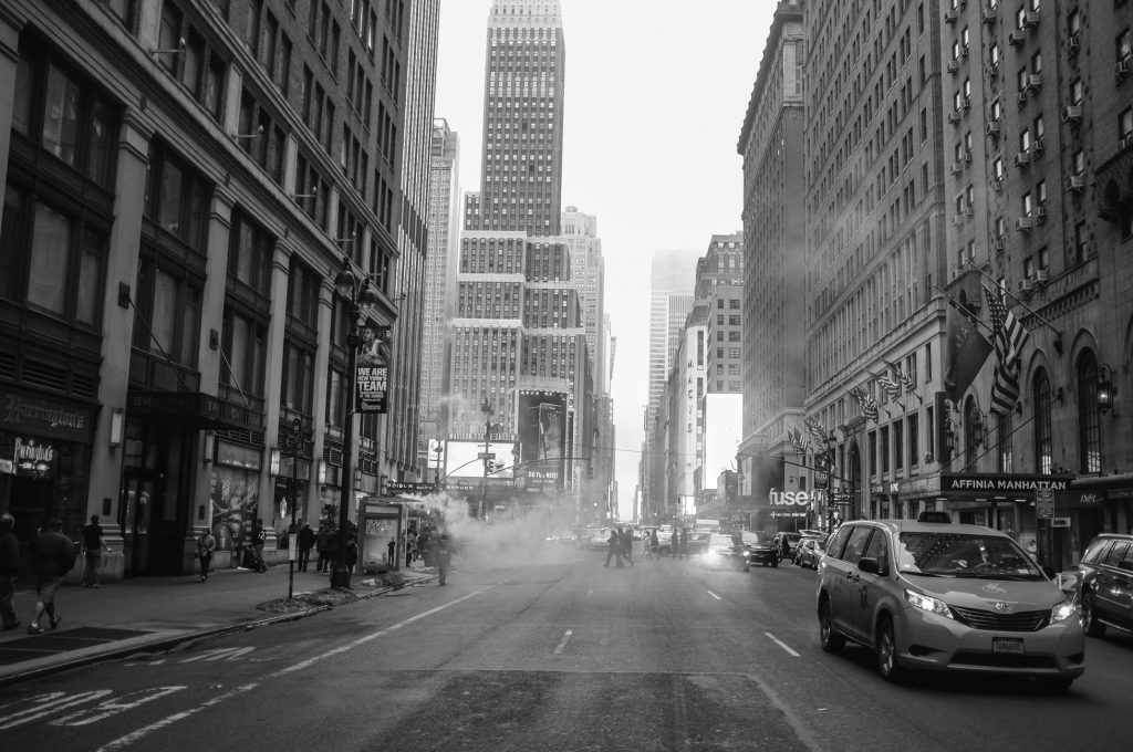 new york black and white