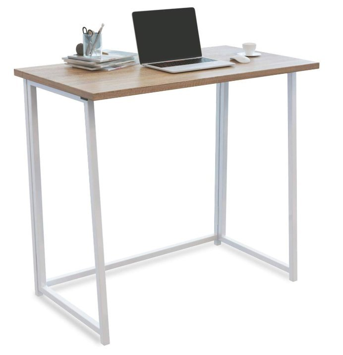 4NM No-Assembly Folding Desk, Small Computer Desk - Minimalist