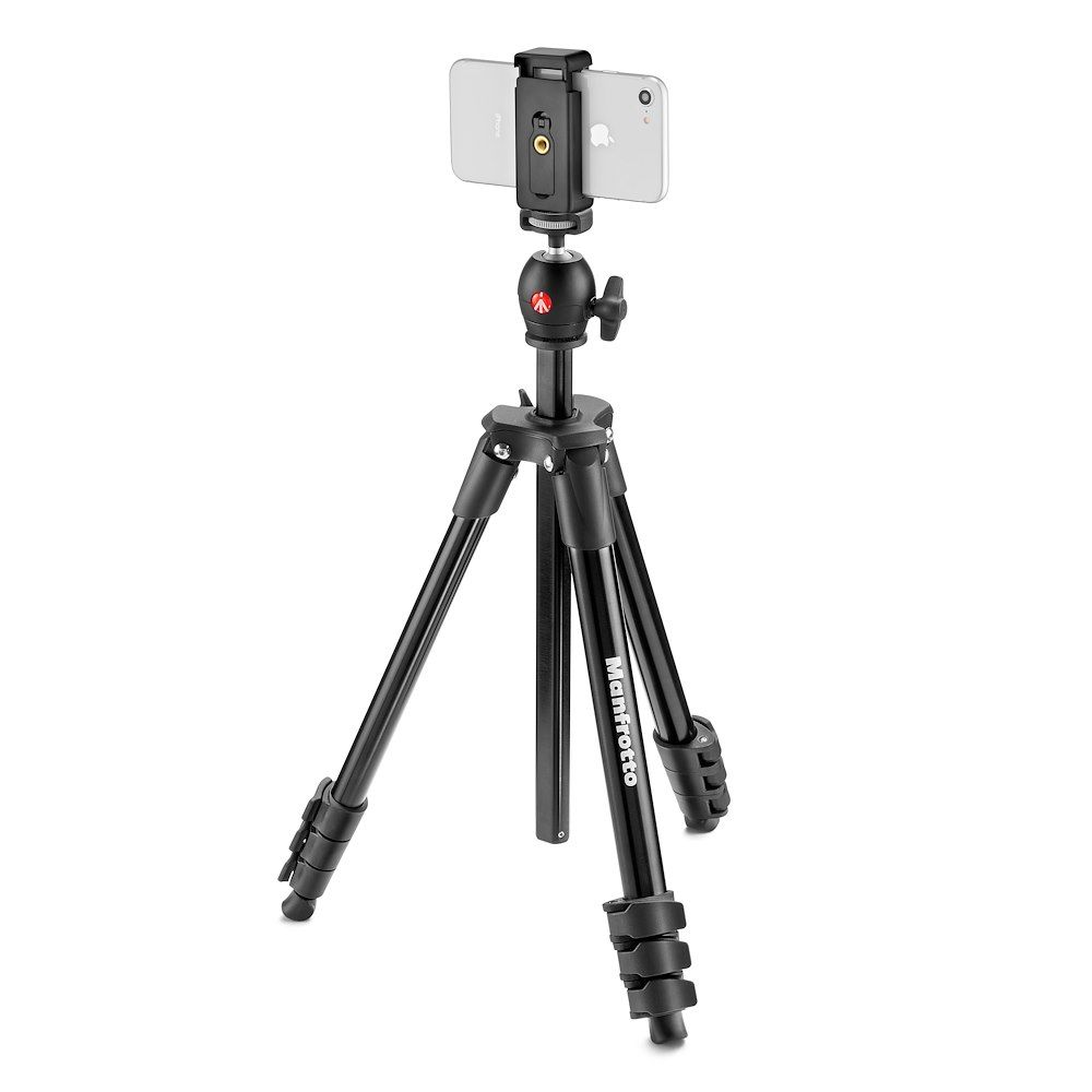 "Manfrotto Compact Light 51"" Smart Aluminum Tripod - smartphone - iPhone tripod"