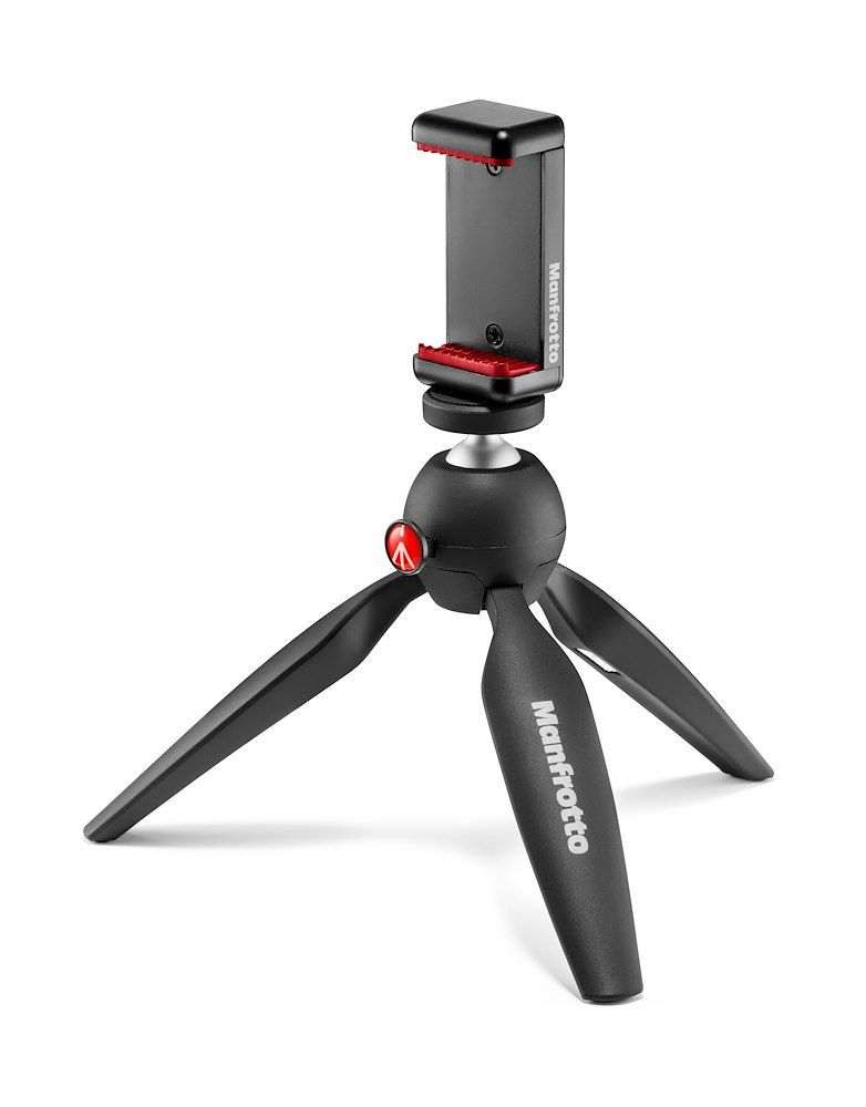 Manfrotto PIXI Mini Tripod Kit with Universal Smartphone Clamp - iphone tripod