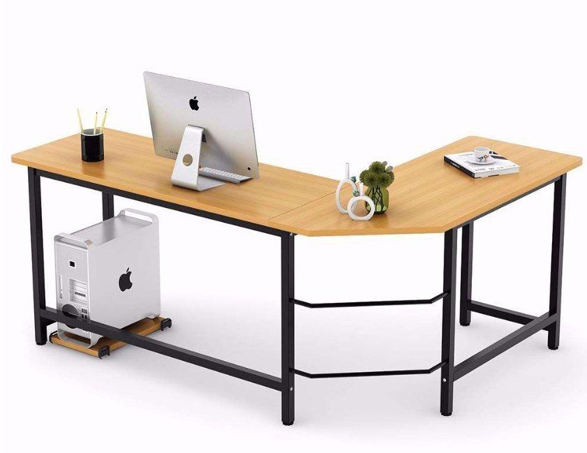 Tribesigns Modern L-Shaped Desk Corner Computer Desk - Minimalist