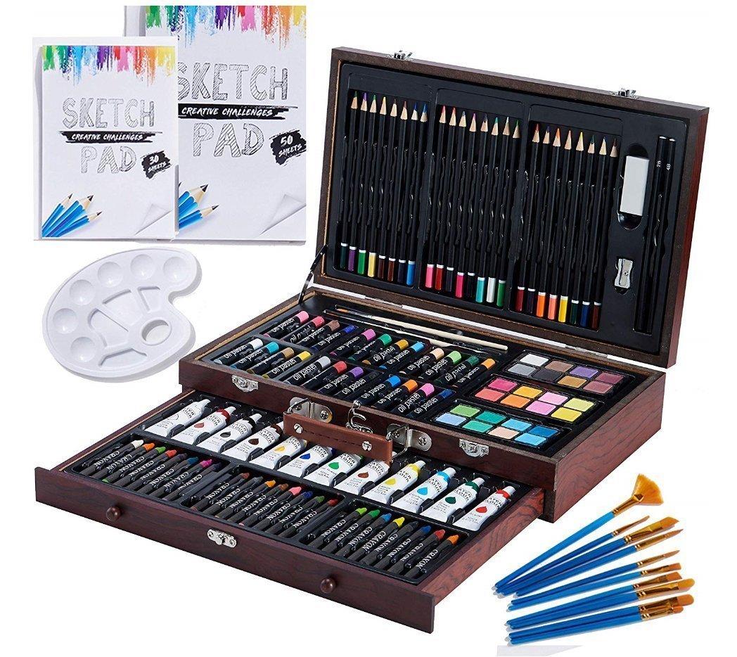 Vigorfu Luxury 129-Piece Art Set - art tools