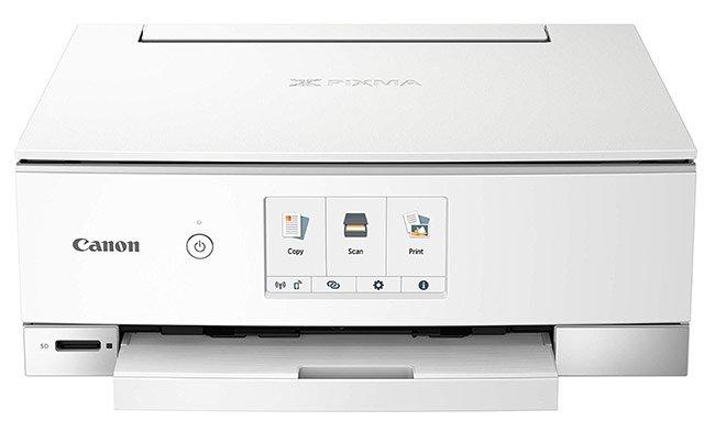 Canon PIXMA TS8320 Inkjet Wireless Color Printer All In One, Copier, Scanner - best printer for art print