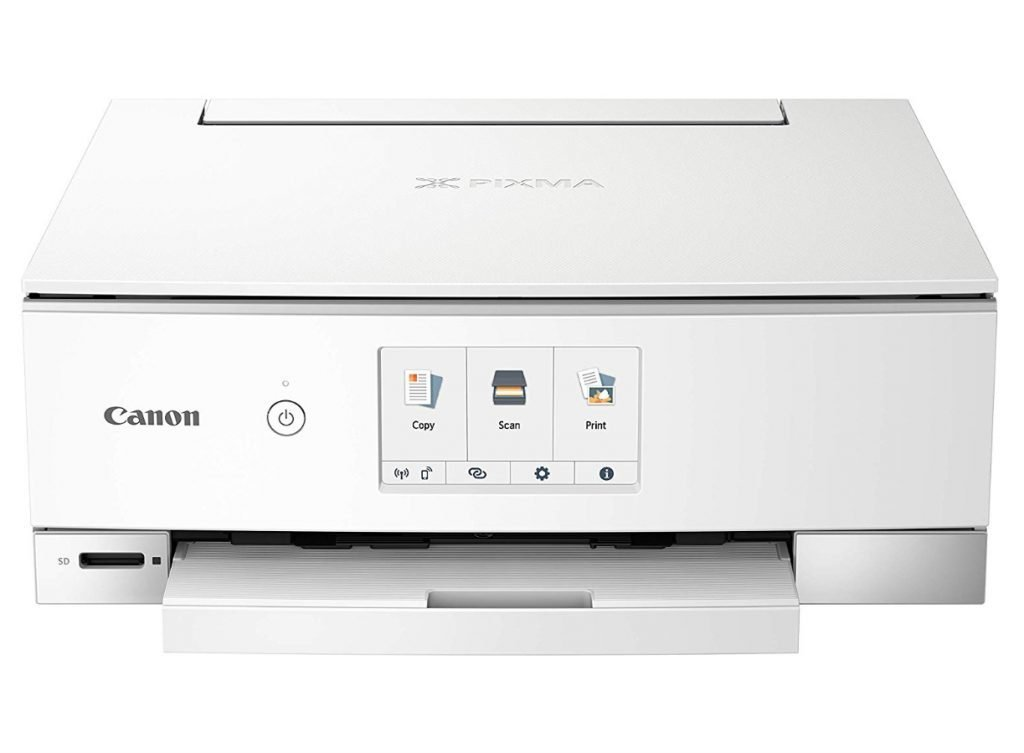 Canon PIXMA TS8320 Inkjet Wireless Color Printer All In One, Copier, Scanner - best printer for art print