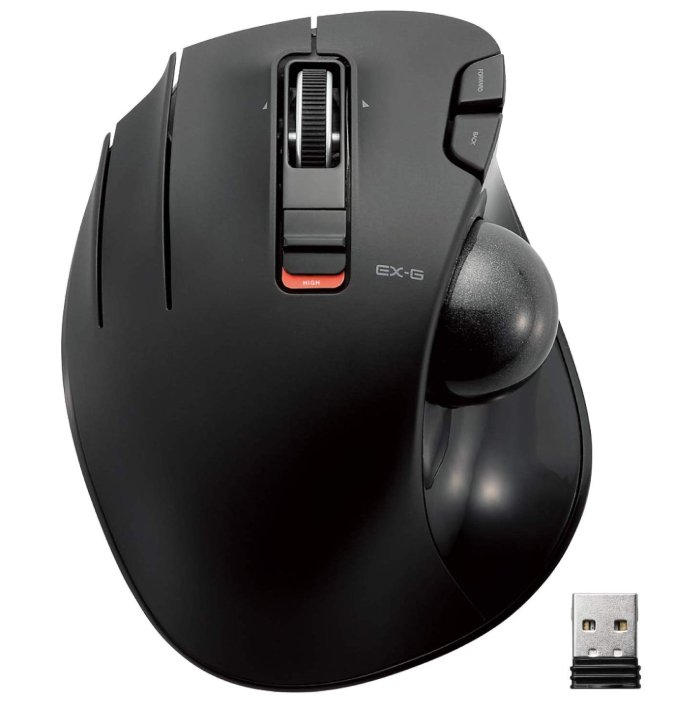 ELECOM M-XT4DRBK Wireless Trackball mouse for Left-Handed