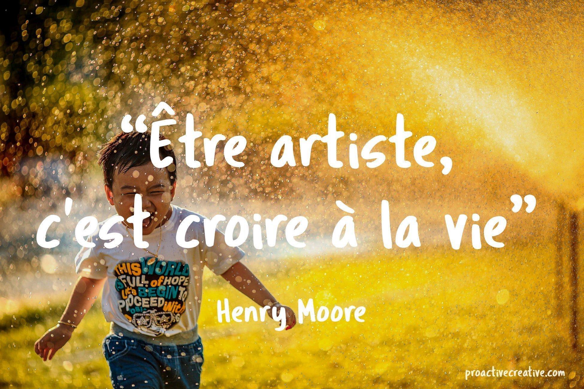 Citation d'art - Henry Moore