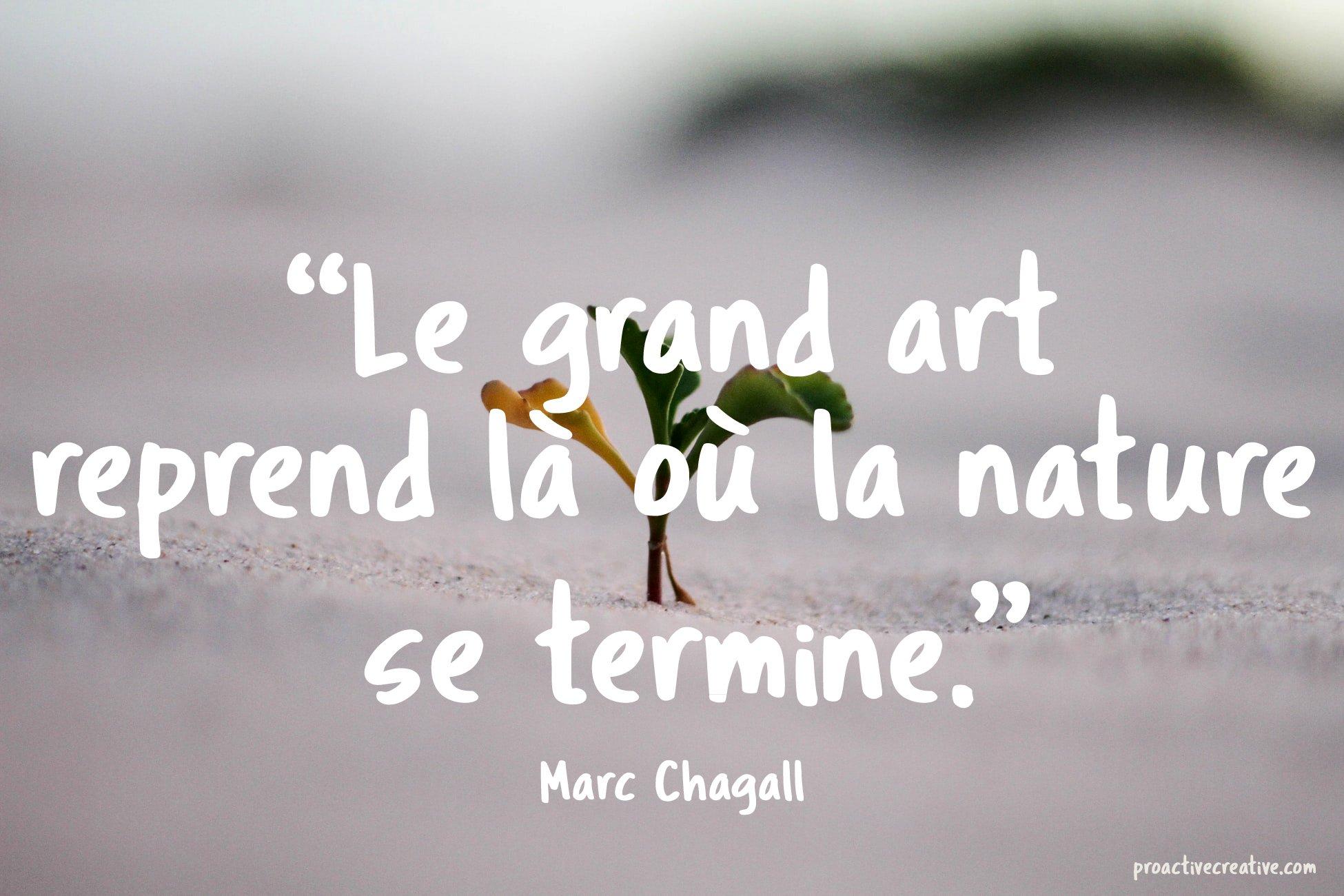 Citation d'art - Marc Chagall