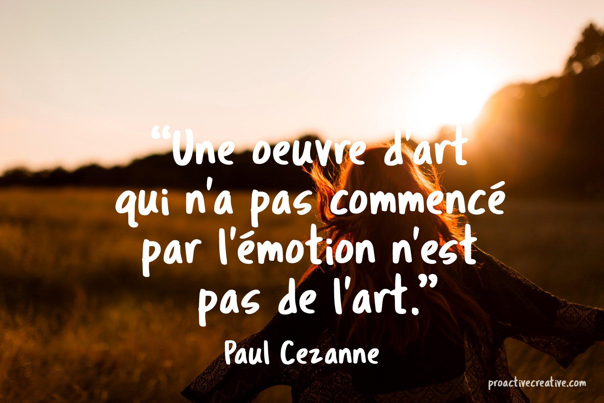 Citation d'art Paul Cezanne