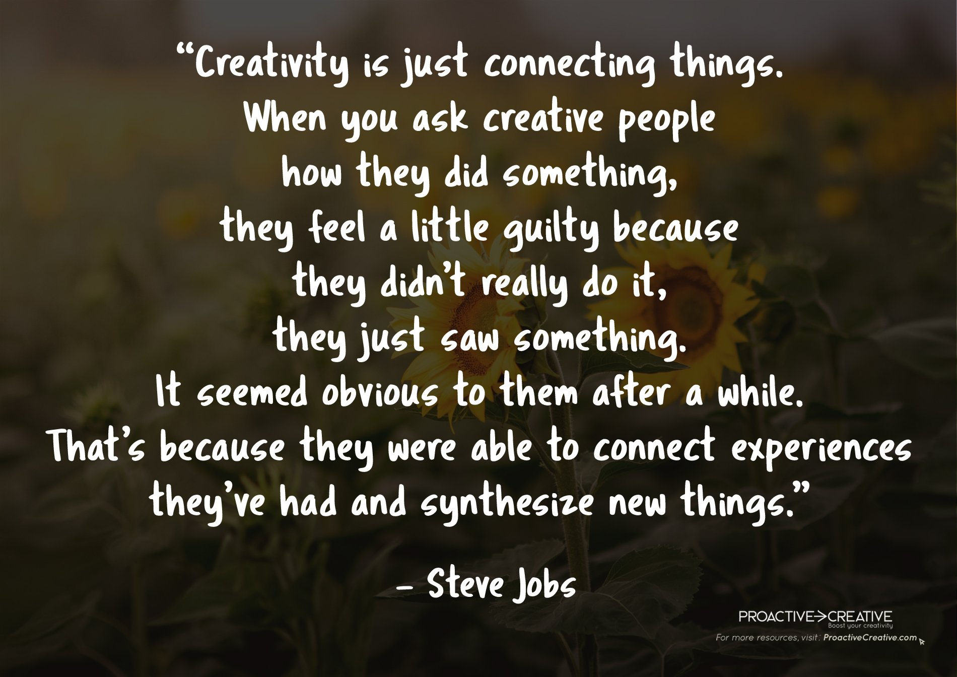 Best creativity quotes - Steve Jobs