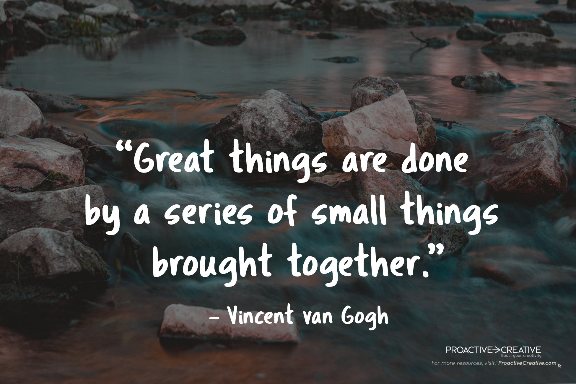 Creativity quote Vincent Van Gogh