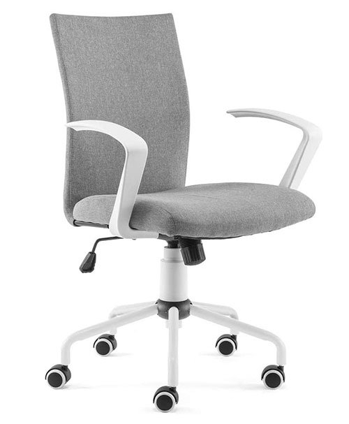 DJ·Wang Grey Desk Chair - Best minimalist desk chair