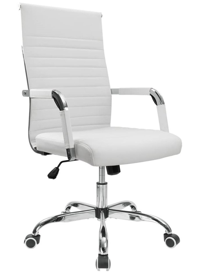 Best minimalist desk chair - Furmax Ribbed Office Chair High White