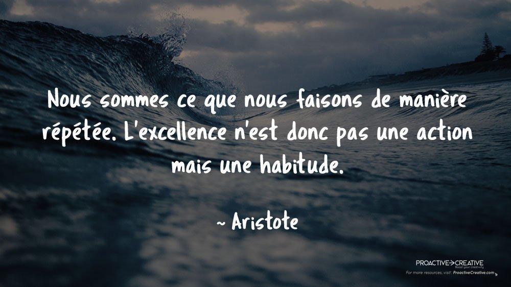 Citation sur l'action - agir - Aristote