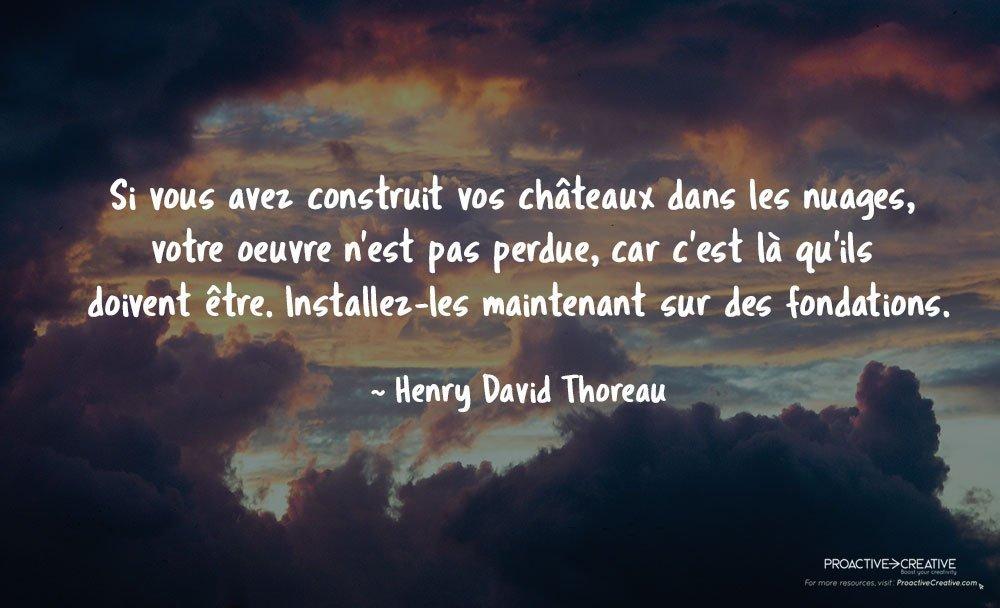 Citation sur l'action - agir - Henry David Thoreau