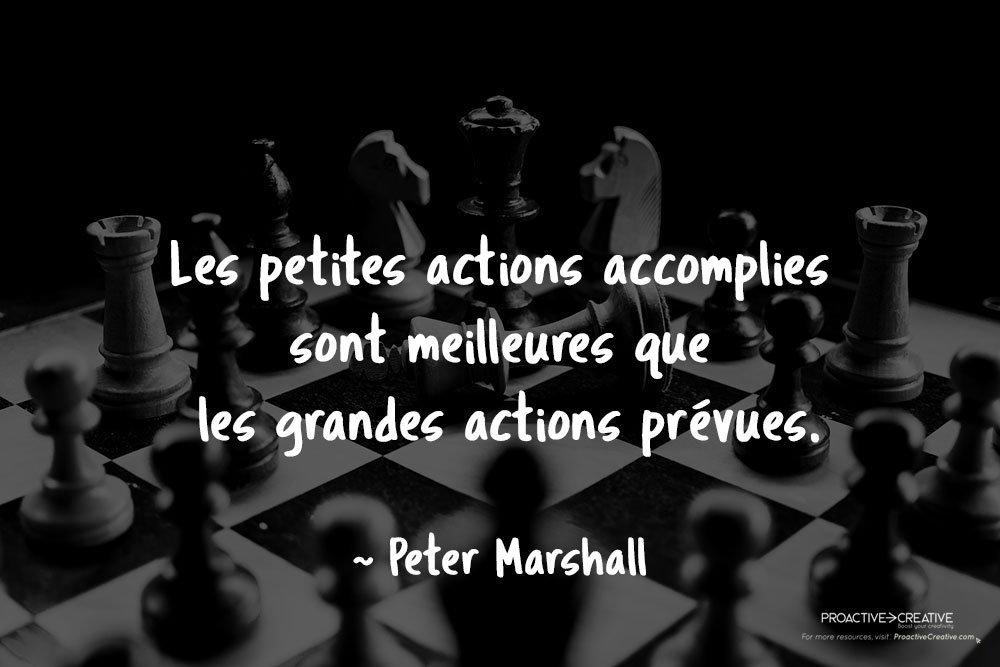 Citation sur l'action - agir - Peter Marshall