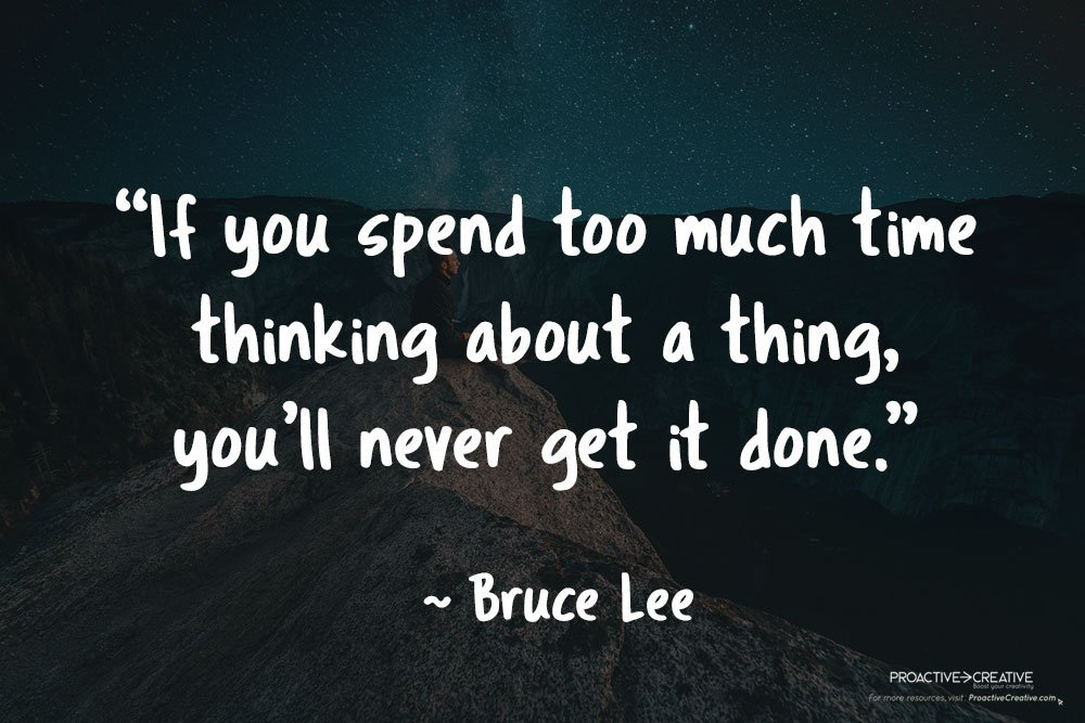 Quotes about productivity - Bruce Lee