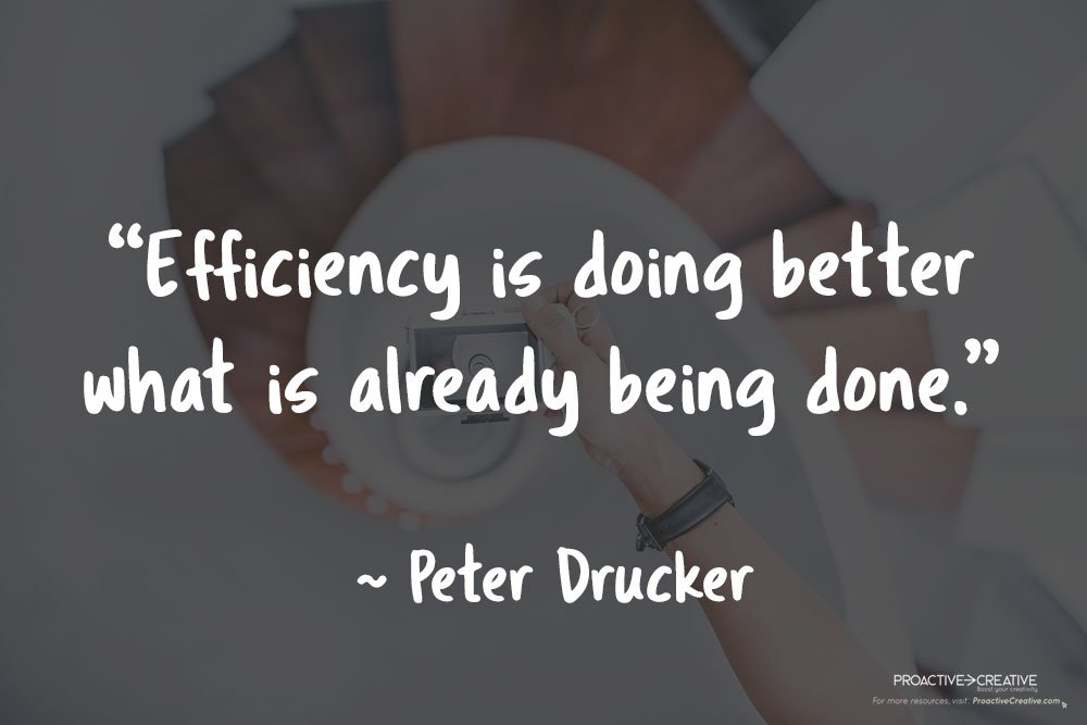Quotes about productivity - Peter Drucker