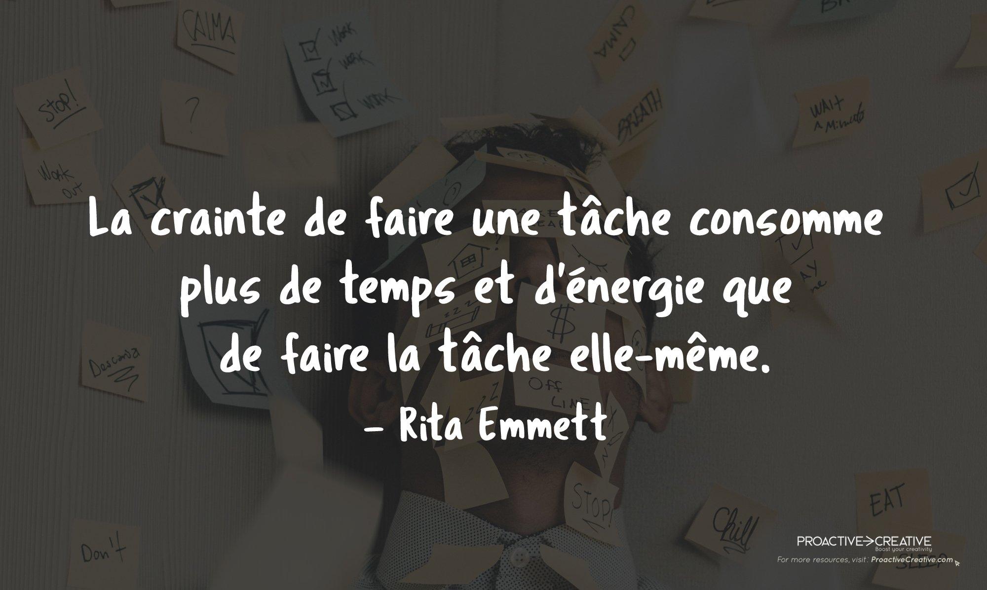 Comment arrêter de procrastiner et passer à l'action - Rita Emmett