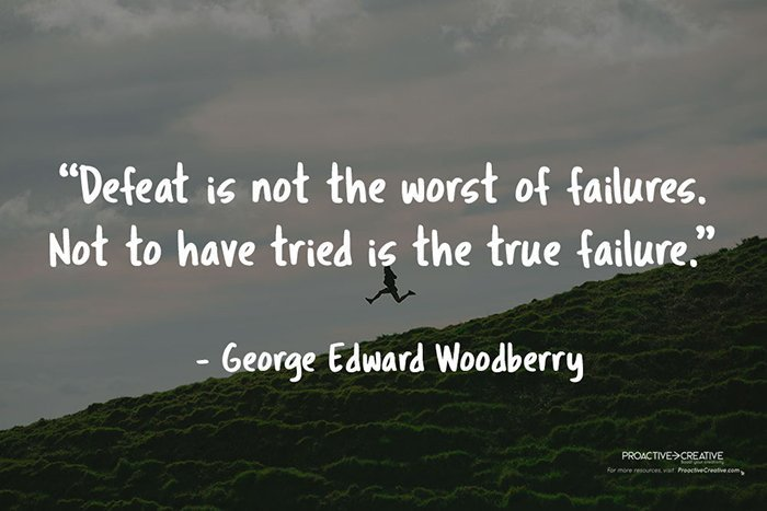 Best quotes to overcome fear of failure - George Edward Woodberry