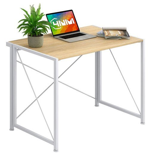Foldable computer desk - 4NM no-assembly folding writing desk