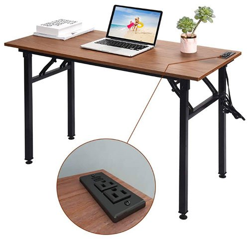 Foldable computer desk - Frylr small folding writing desk