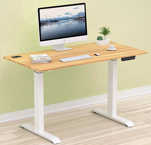 SHW Electric Height Adjustable Computer Desk