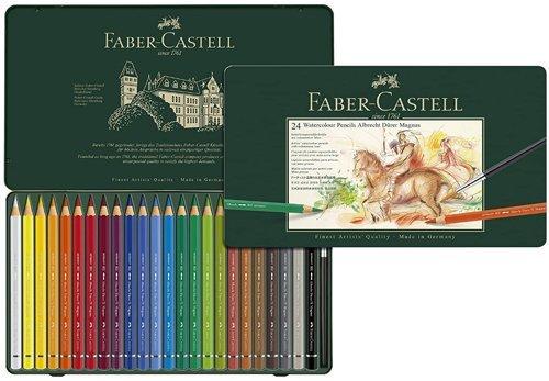 "Best Watercolor Pencils for Artists - Faber-Castell 5.3 mm""Albrecht Dürer Magnus"" Watercolour Pencils"