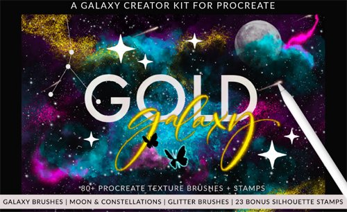 Galaxy Creator Kit for Procreate