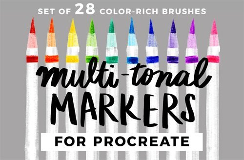 Multi-tonal Markers for Procreate