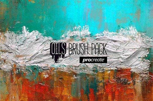OILS BRUSH PACK v2.2x for PROCREATE 5