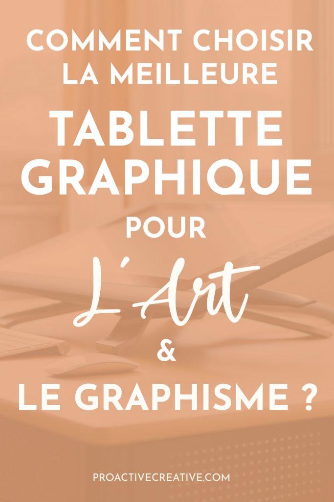 Tablette graphique pour l'art et le design