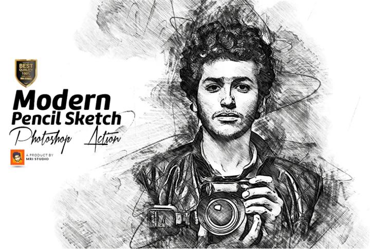 Modern Pencil Sketch PS Action